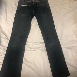 Guess dark washed jeans